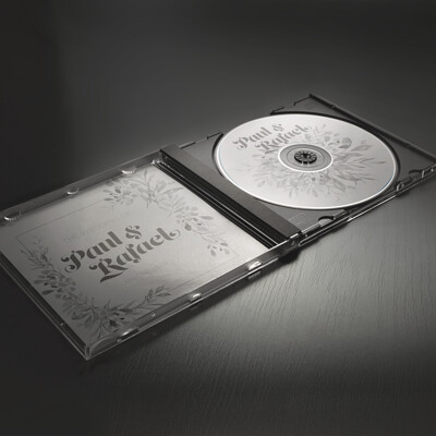 Wedding DVD cover and disc design