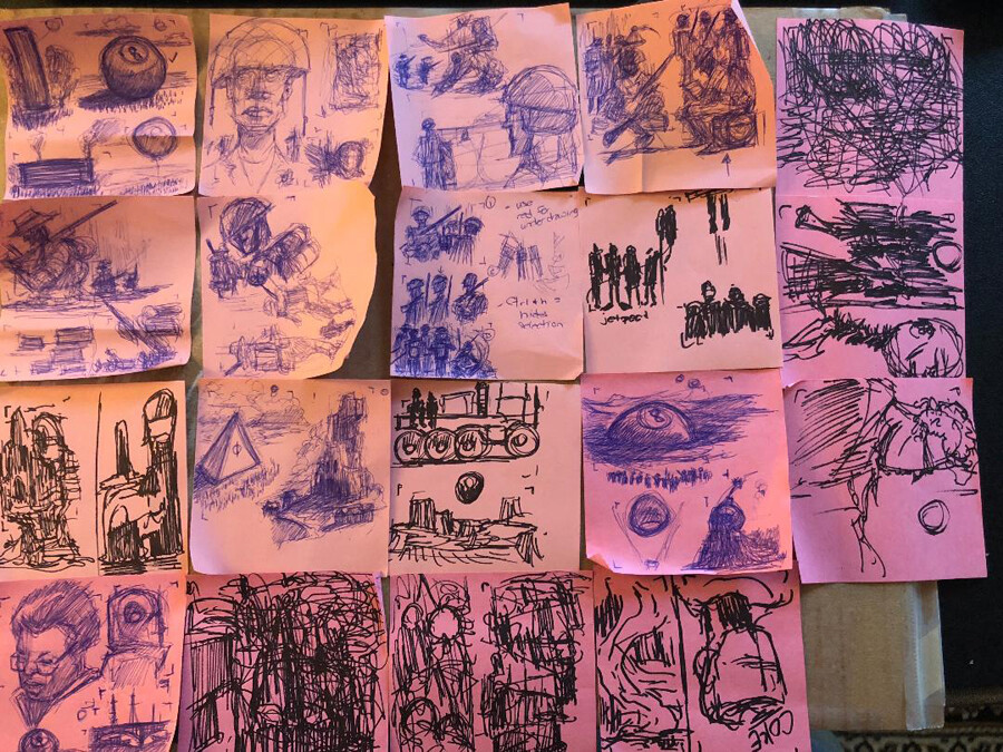 Try thumbnailing on sticky pads! It's great!