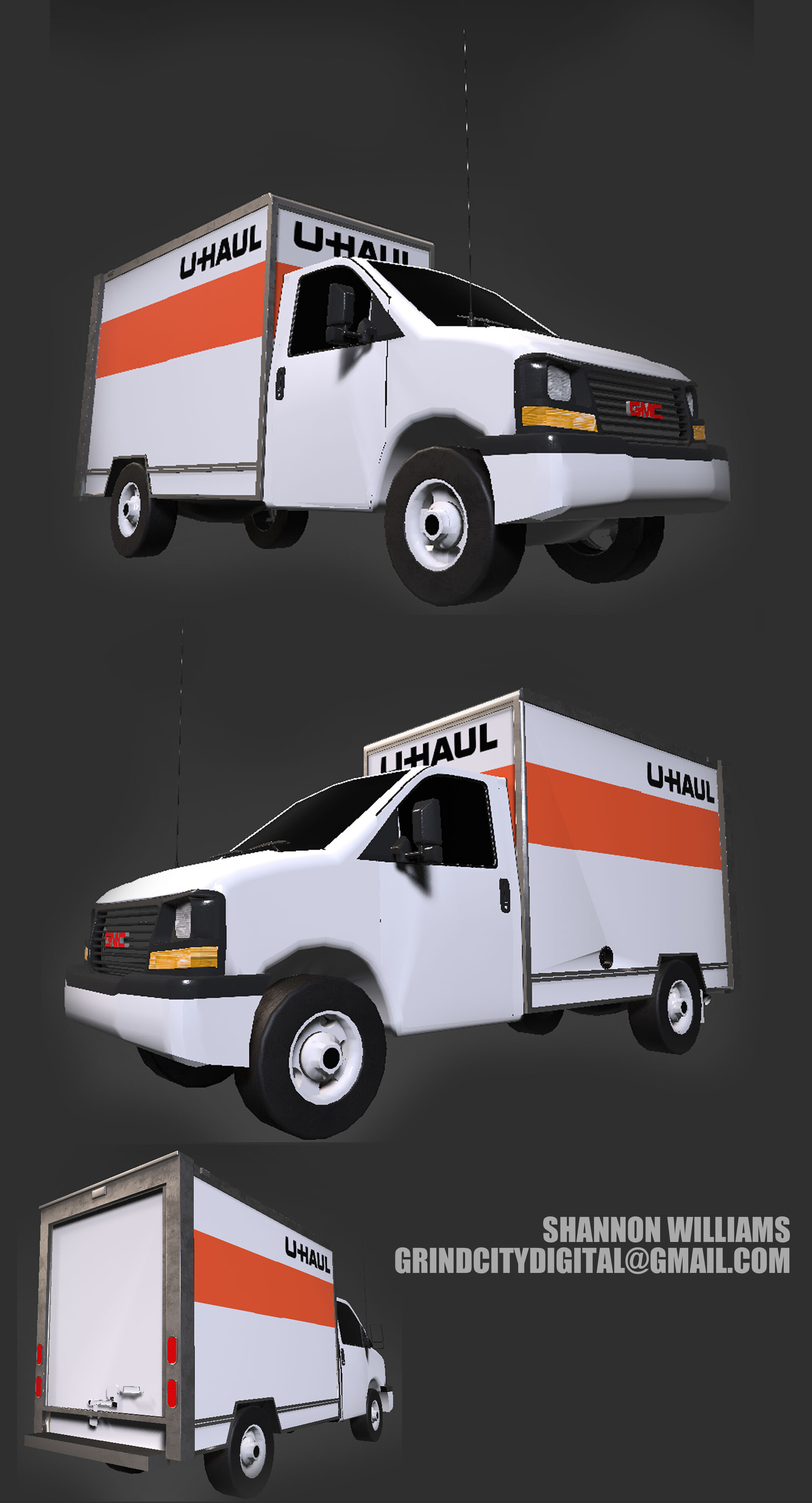 This is what the truck looks like in Substance Painter. Notice the difference on the base of the truck and windshield wipers.