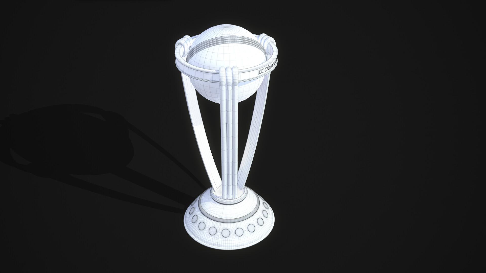 Hashib Hossain - ICC World Cup Cricket Trophy 3D Model