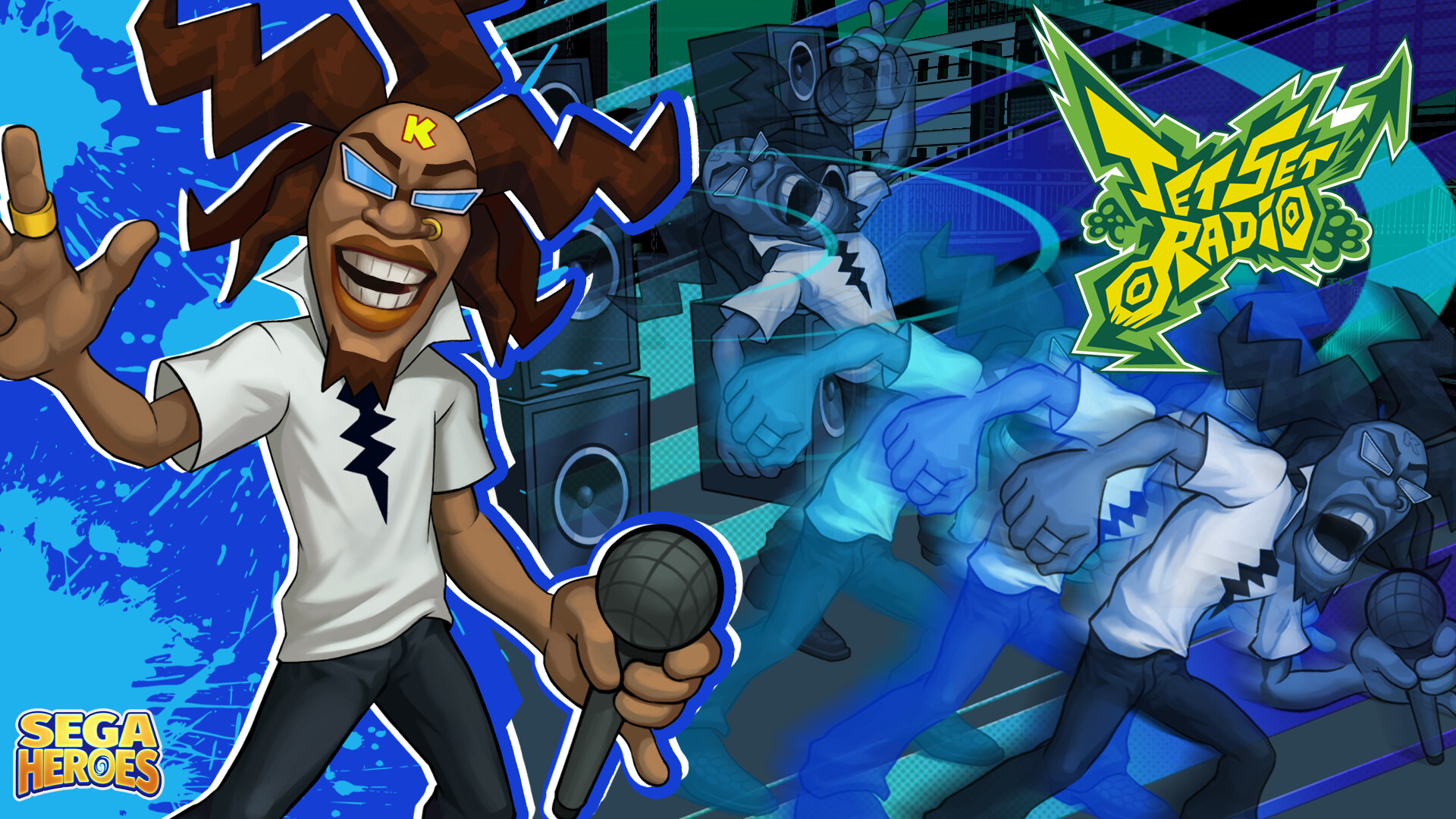 Artstation Sega Heroes Jet Set Radio Dj Professor K Ian Matining