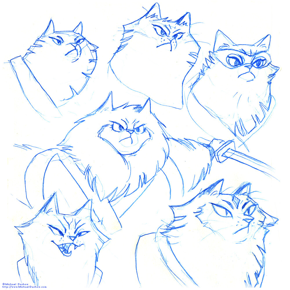 Michael dashow ninja cat 04 faces