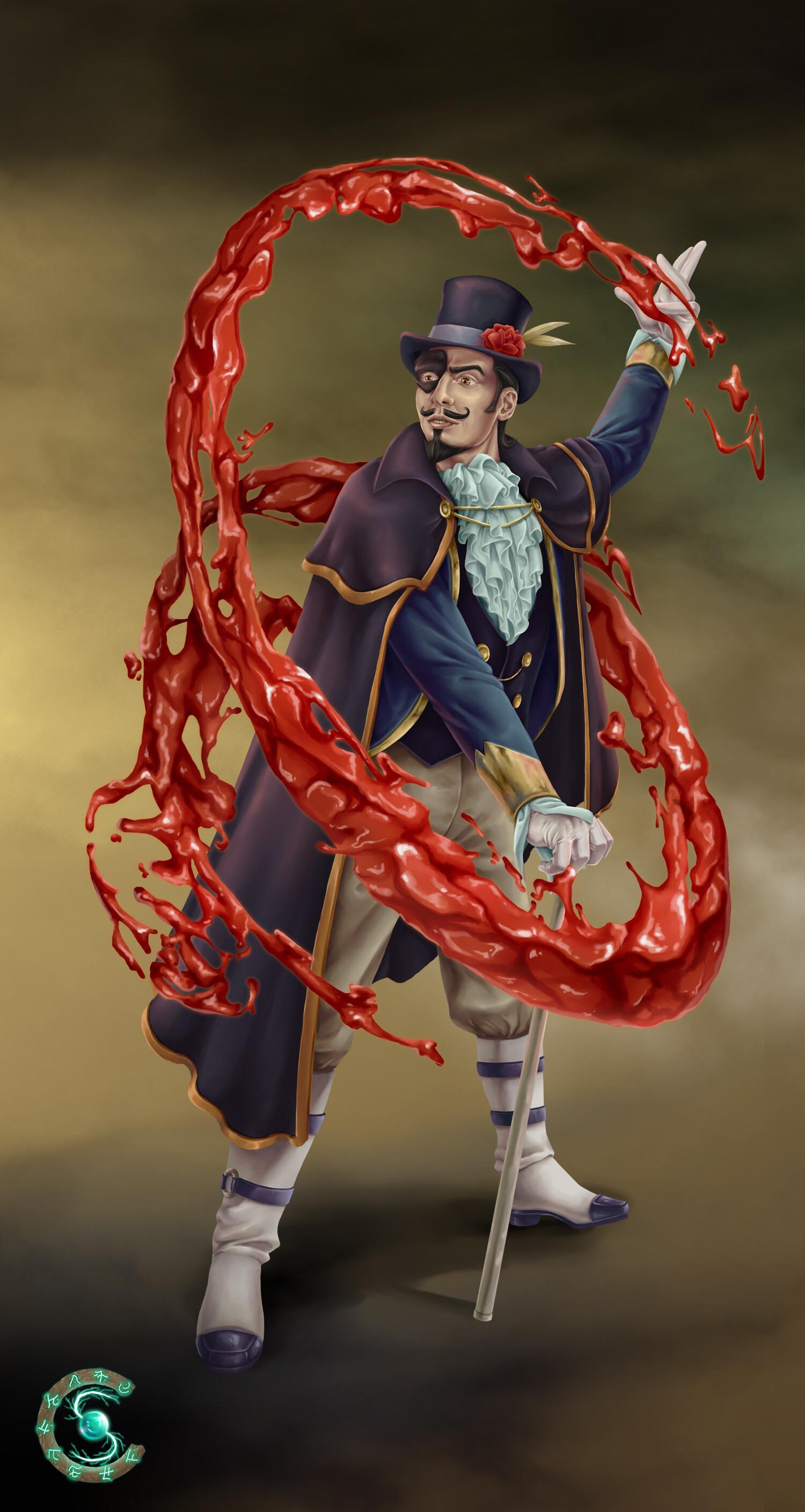 ArtStation - Phantom blood mage for Spellcraft, Hanka Dumitru