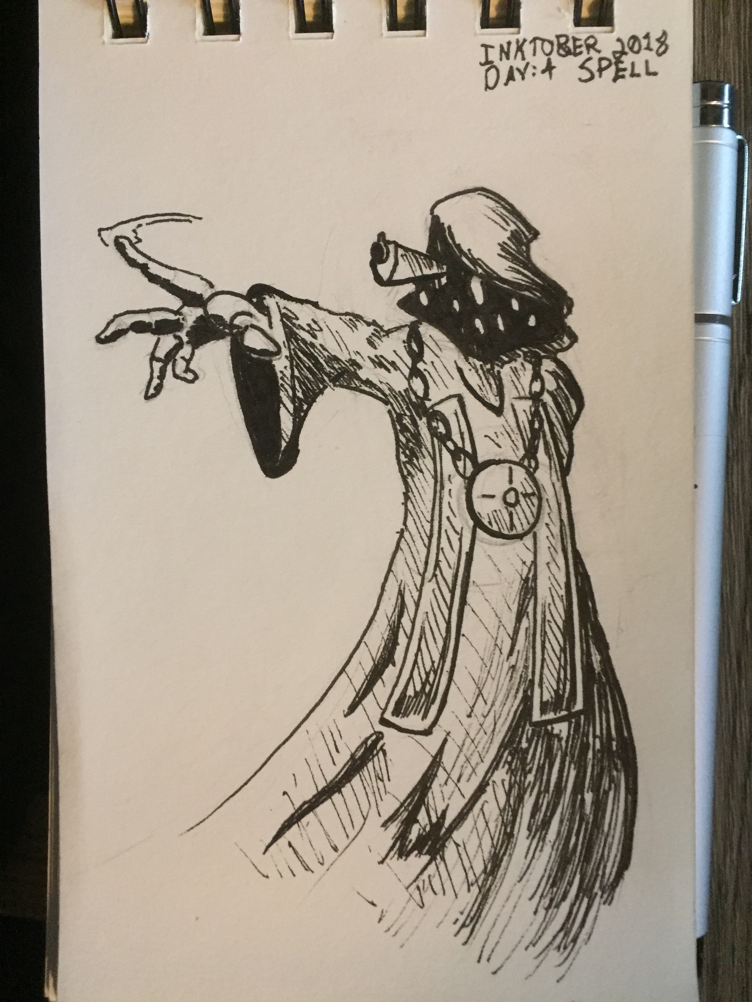 Day 4: Spell (Character is the High Priest from Enter the Gungeon)