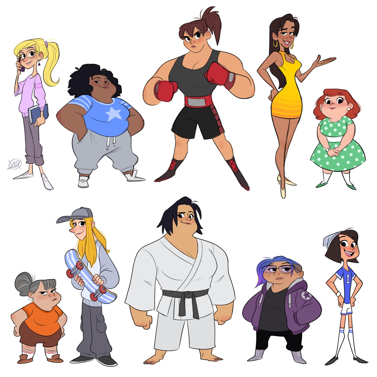 Variety of Ladies
