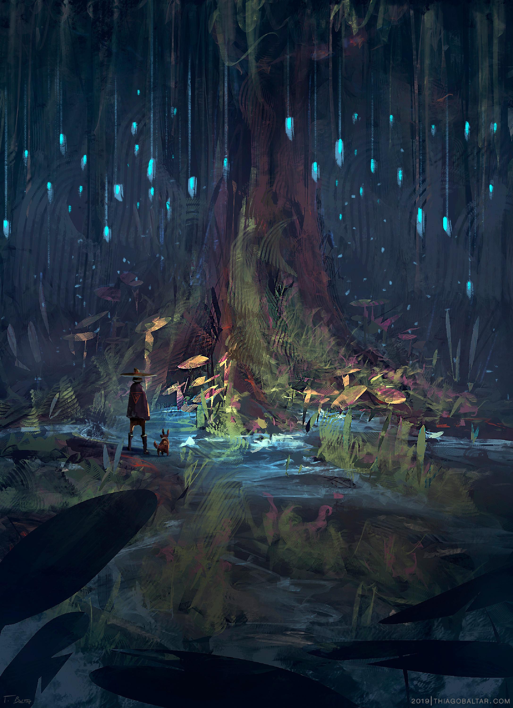 Magic Tree  Antes de começar uma jornada, é prudente pedir a benção da grande mãe. -- Before starting a journey, it is wise to ask the great mother's blessing.