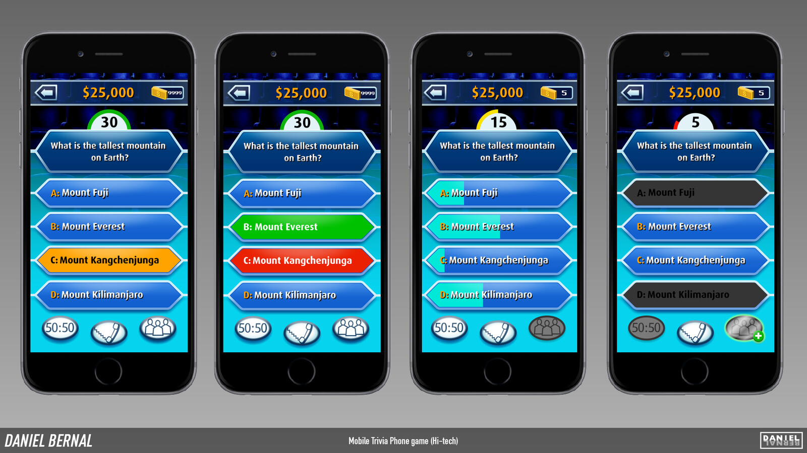 Mobile Trivia Phone Game Assets