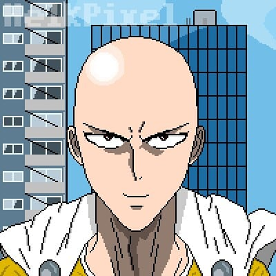 One Punch Man Pixel Art