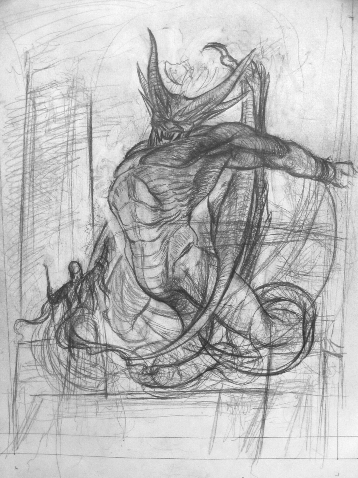 initial sketch/alternate pose