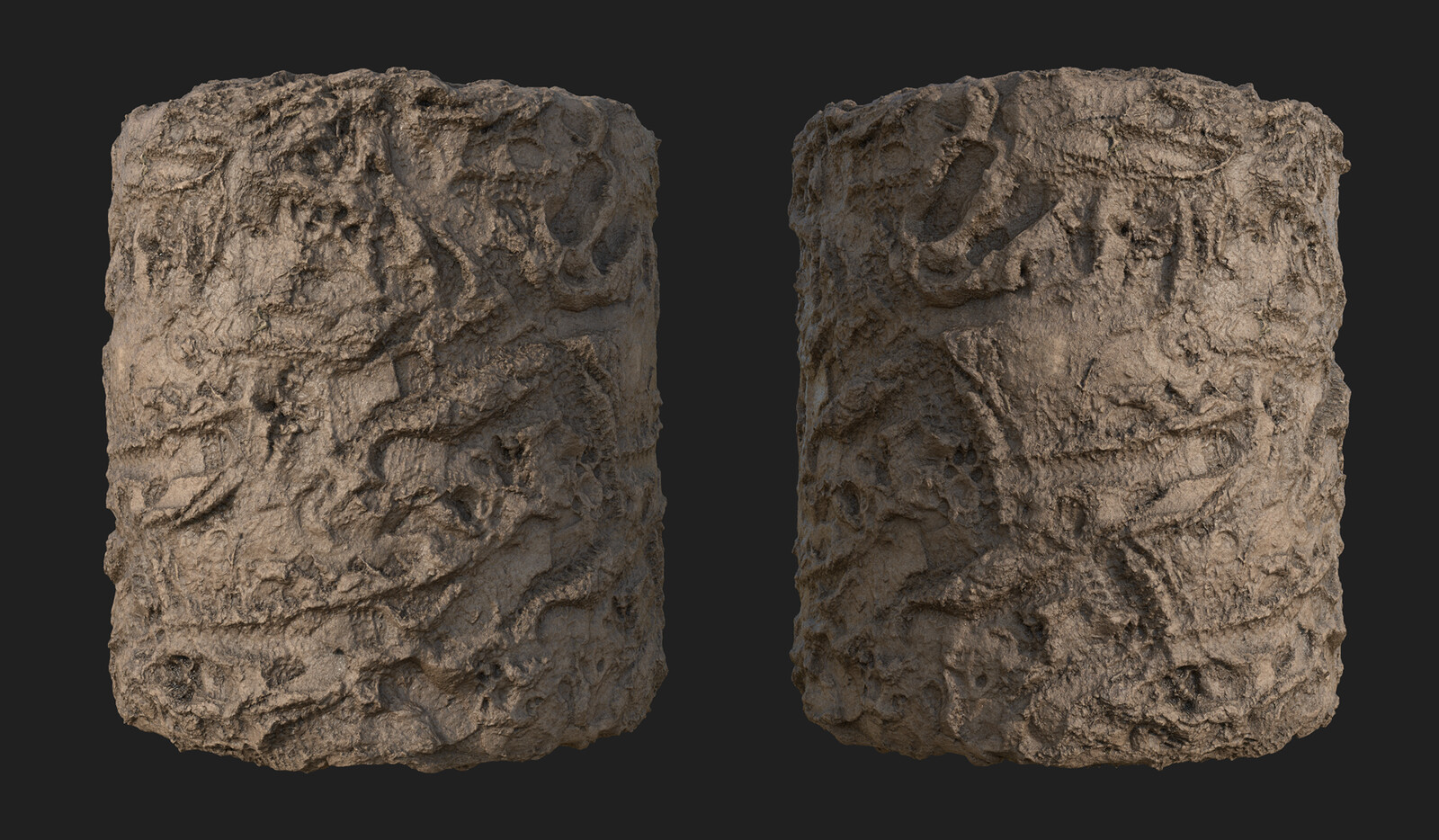 Muddy Ground 3D Scanned Material