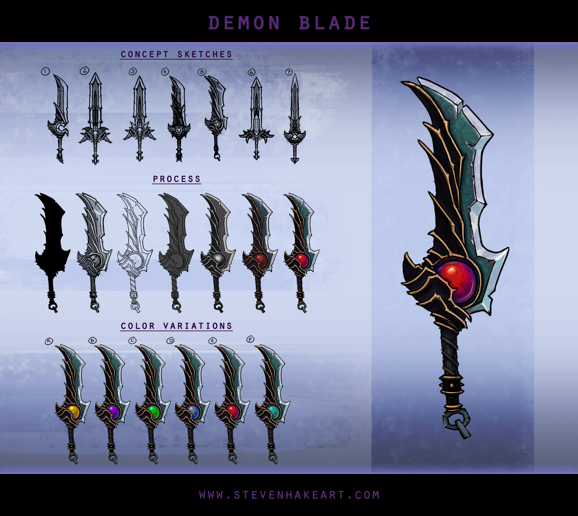 Steven hake demonblade concepts
