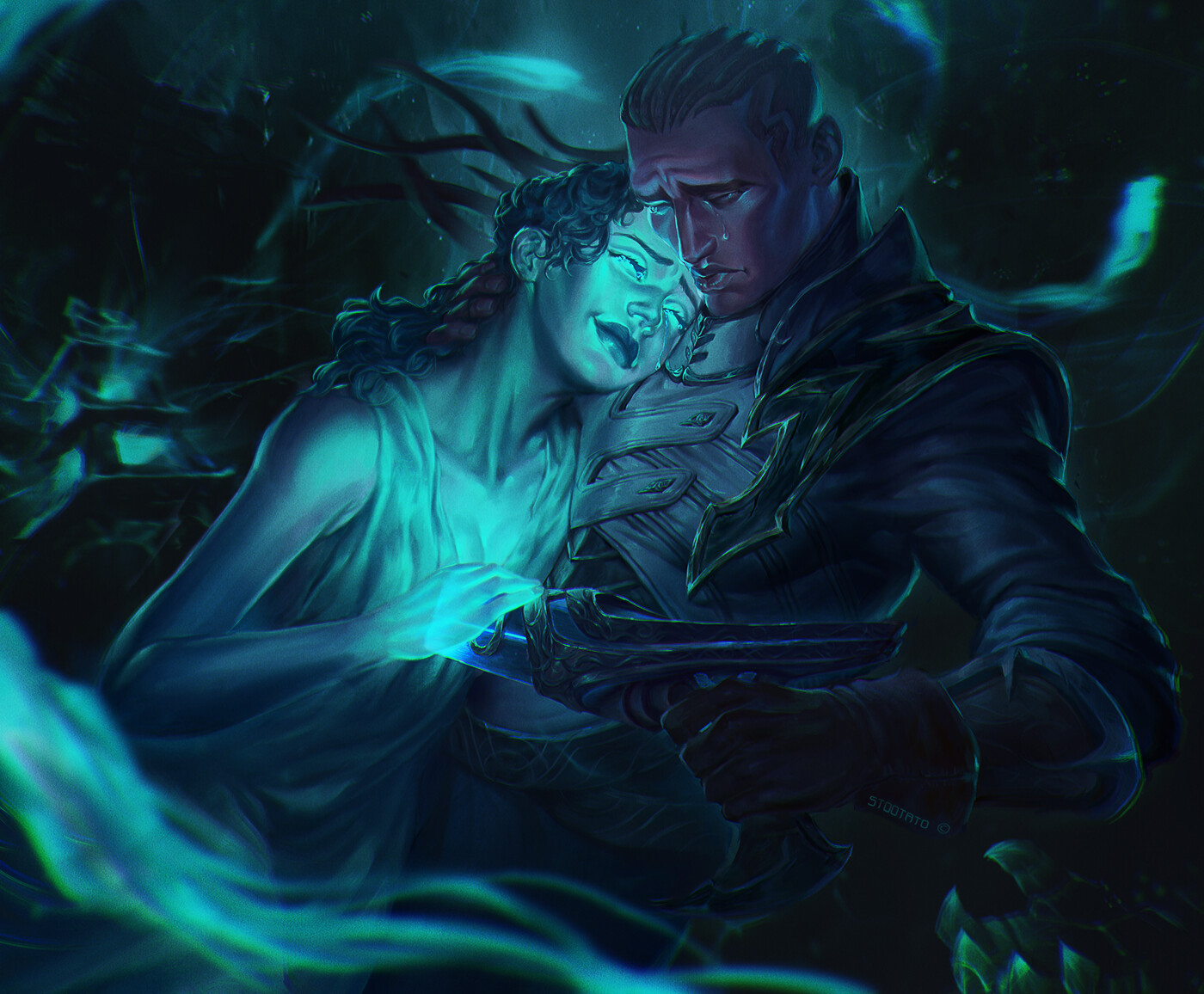 ArtStation - Lucian and Senna, Zoe Zhu