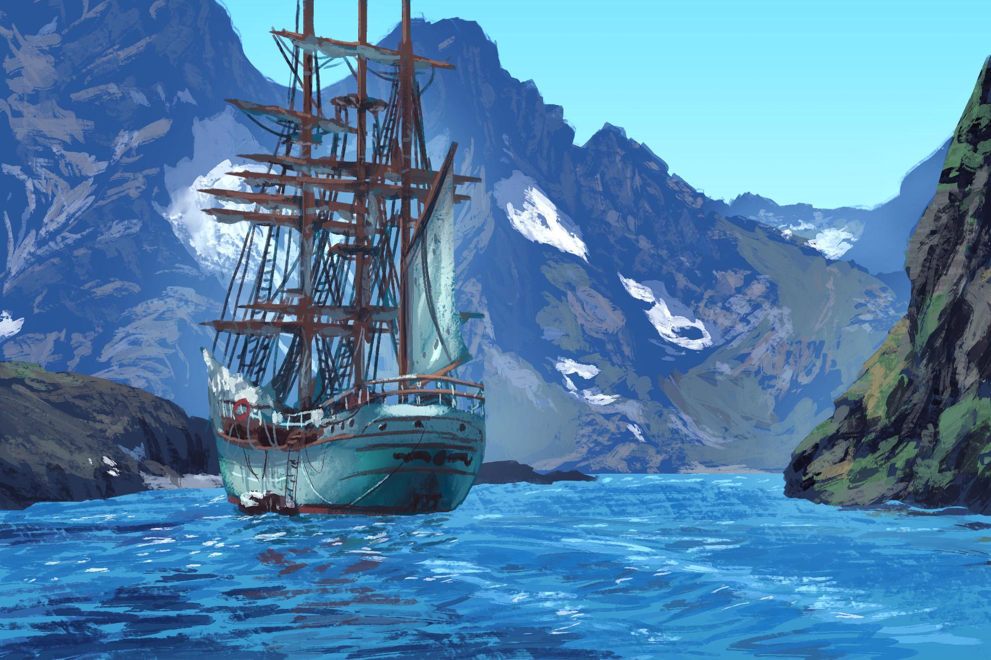 Photo Study: Ship & Fjord