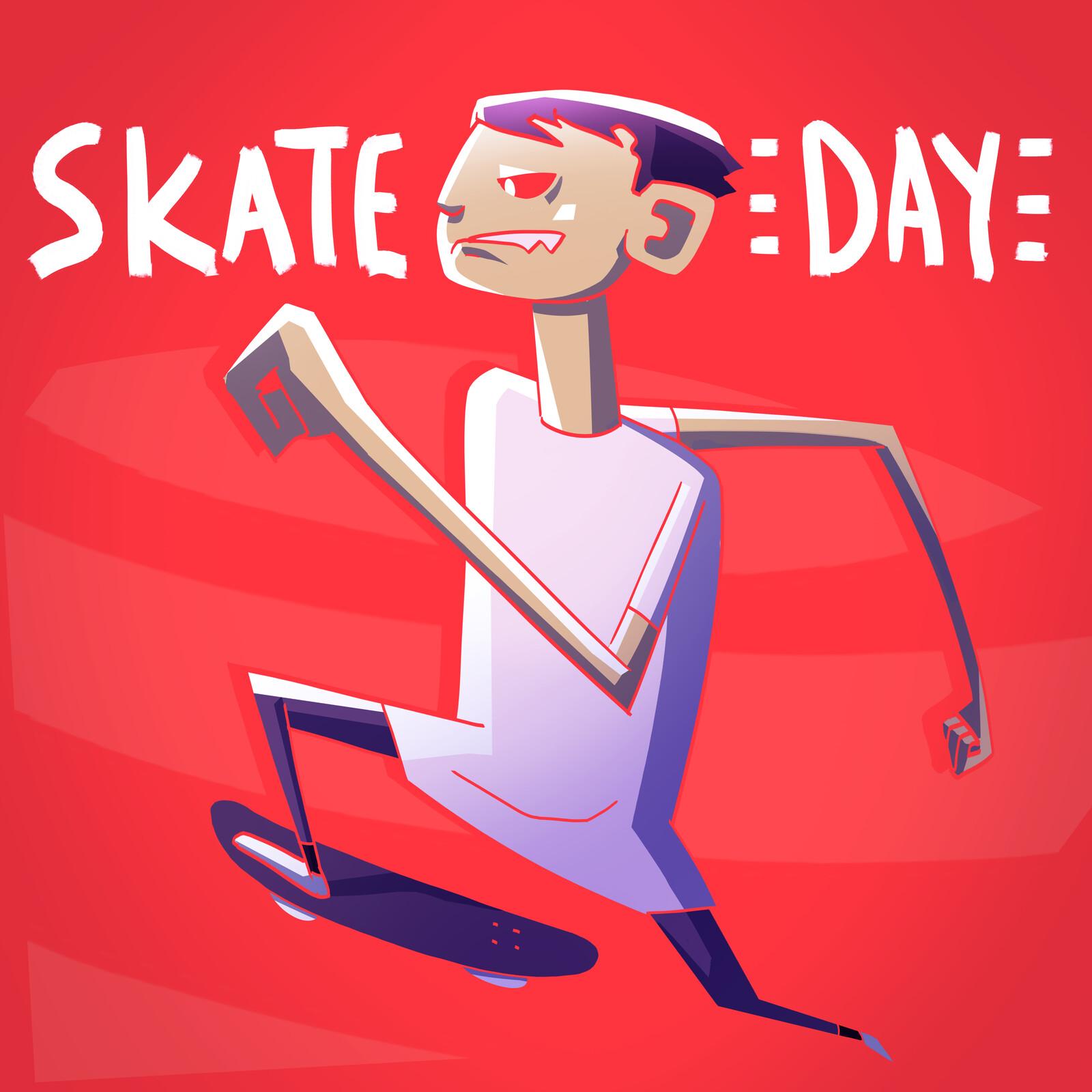 Go Skateboarding day 2019 -  illustration.