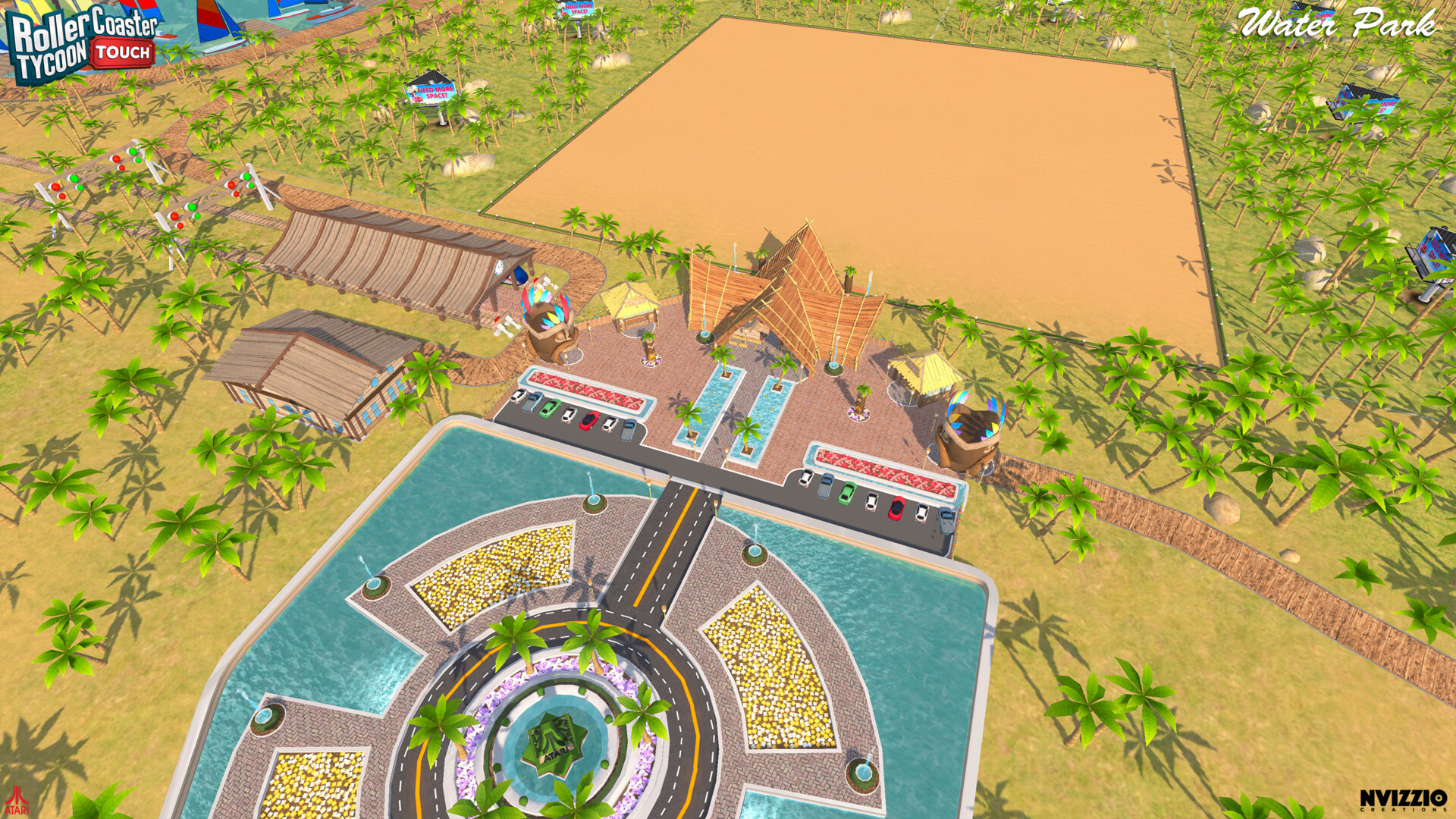 ArtStation - Roller Coaster Tycoon Touch - Waterpark map