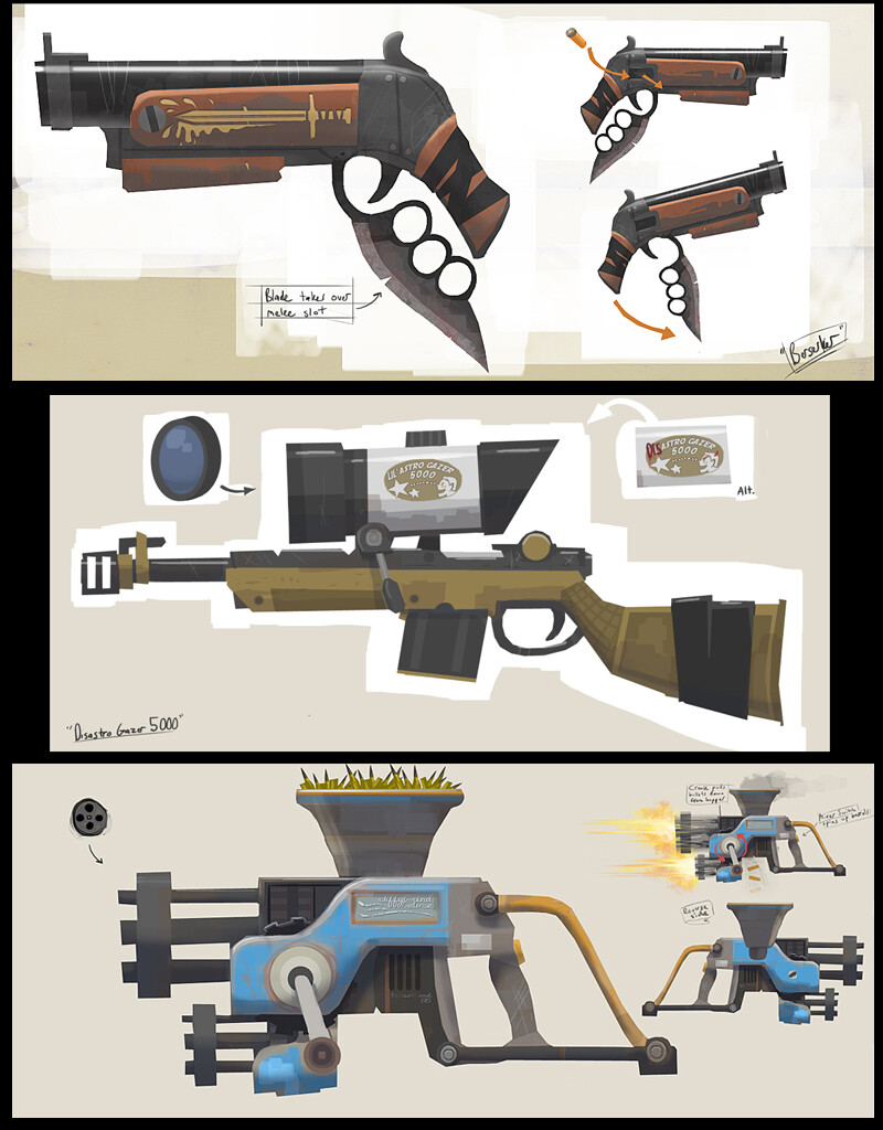 ArtStation - Untitled 2010 FPS - Weapons, Tim Murray
