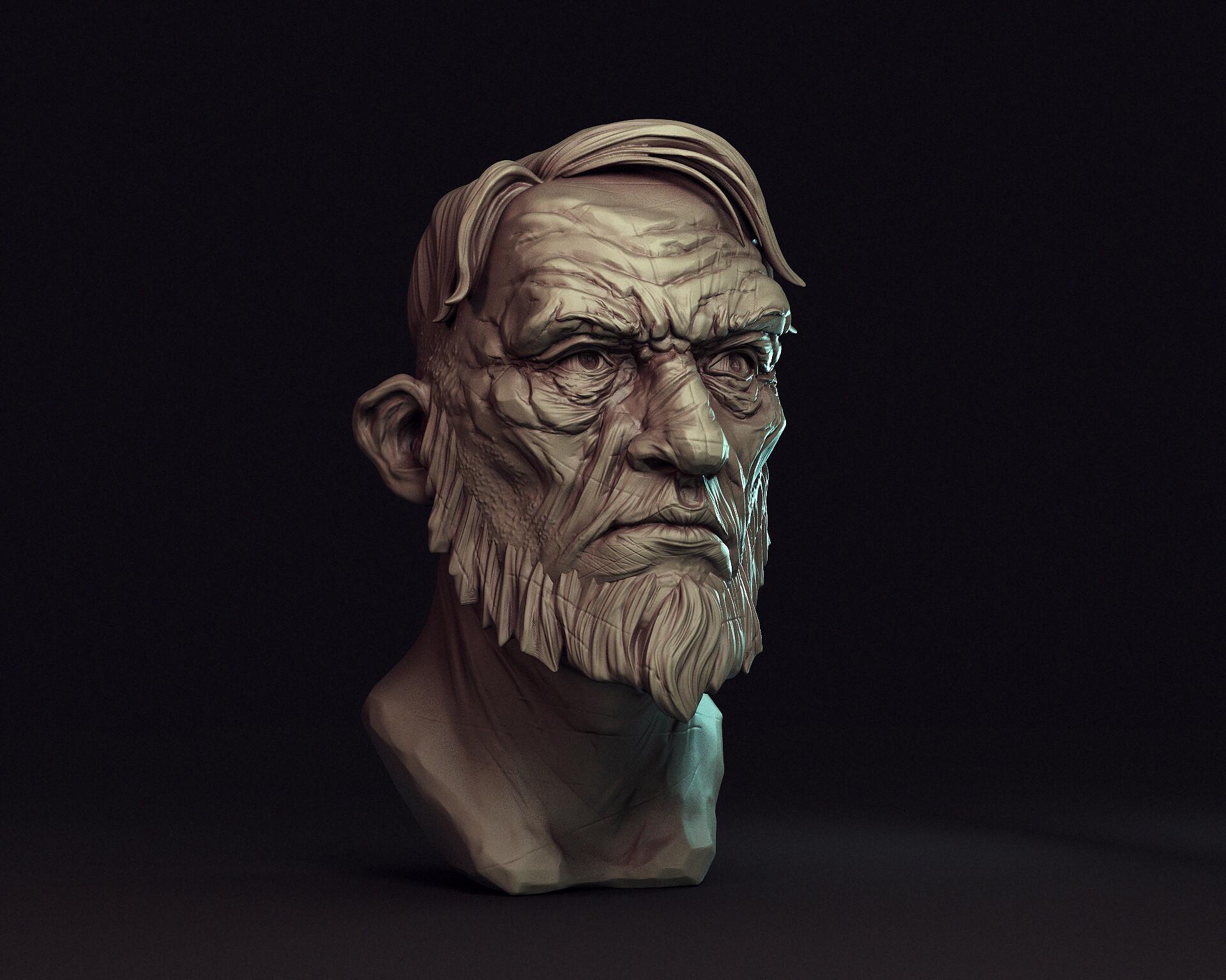 Artem bespalov old dude artstation01