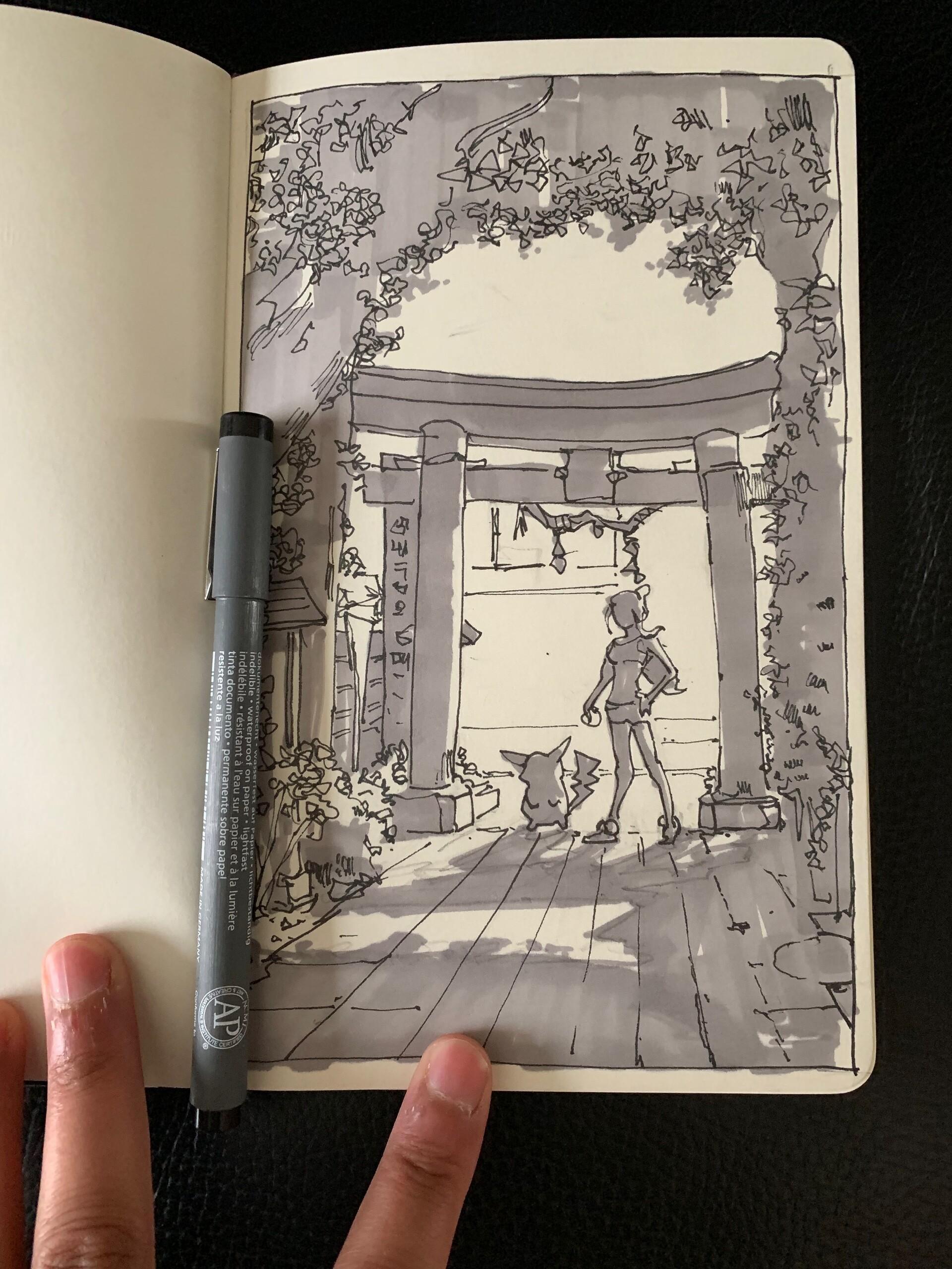 thumbnail in sketchbook