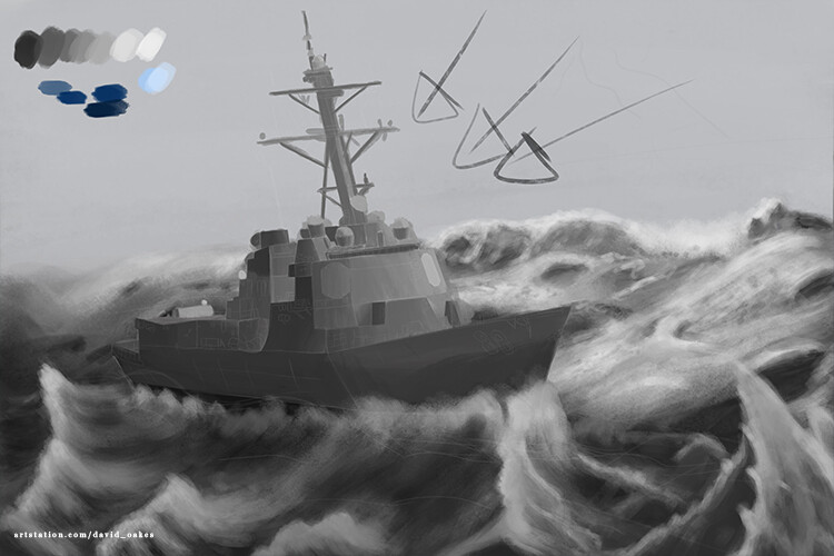 greyscale with a more realistic wave height
