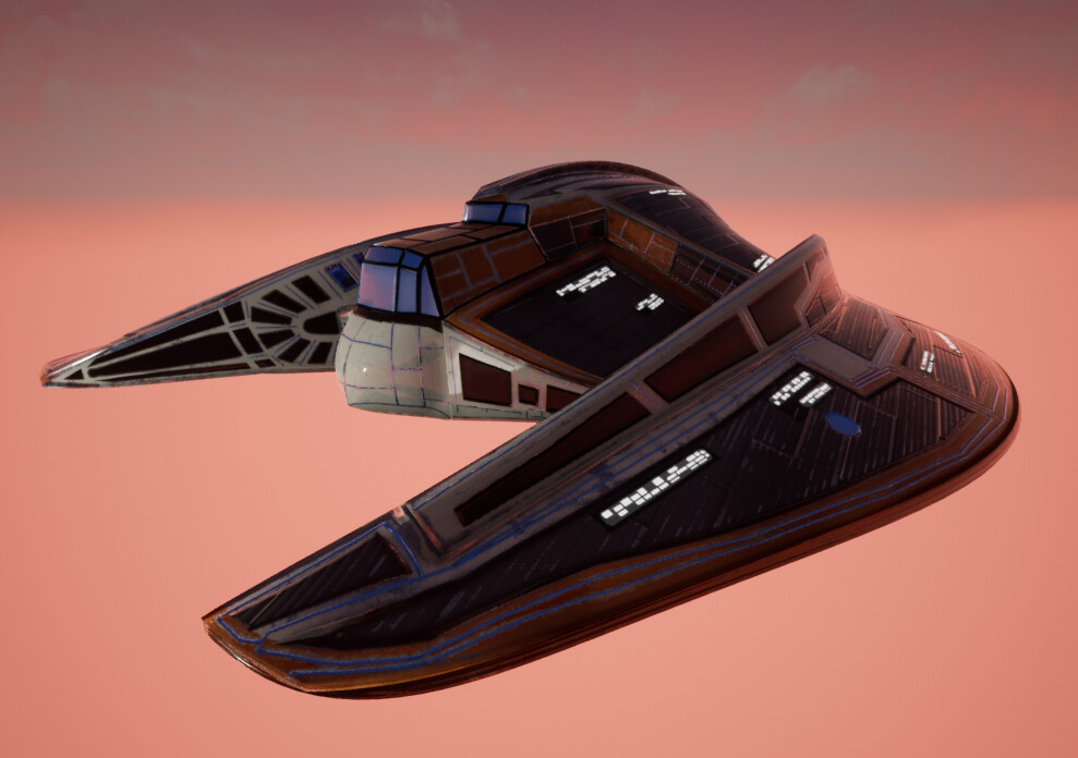 ArtStation - UFO Model Turntable in UE4 - PBR Material Study