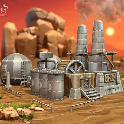 Vlada romaieva gas factory medieval rendering1