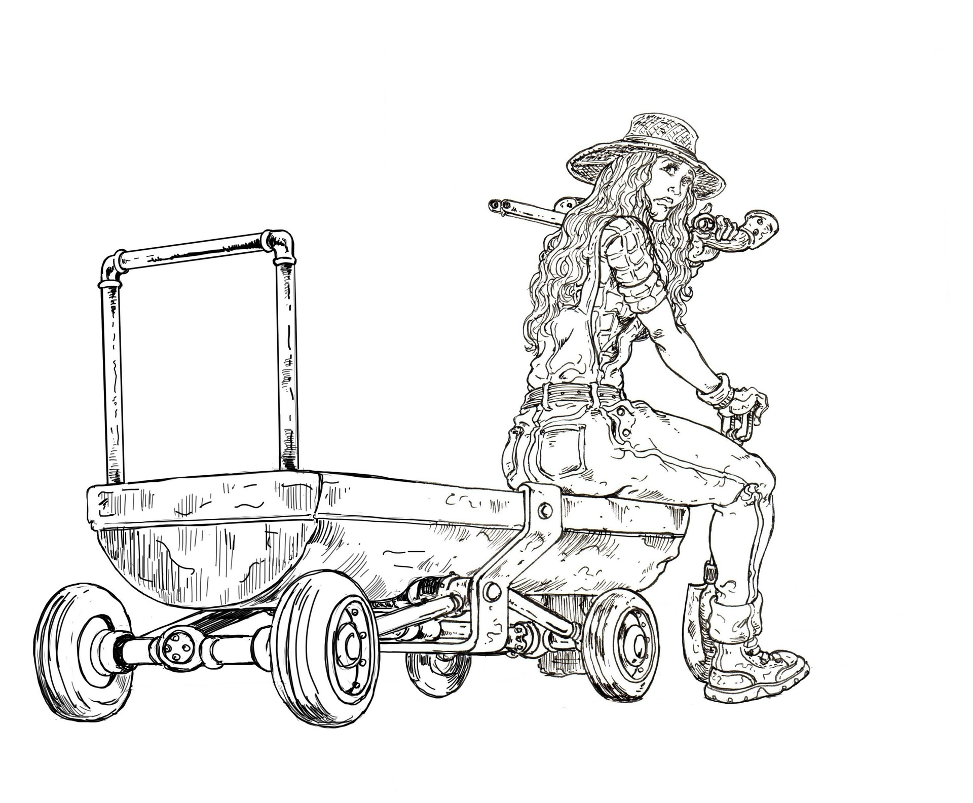 Vincent bryant 38 handcart sally