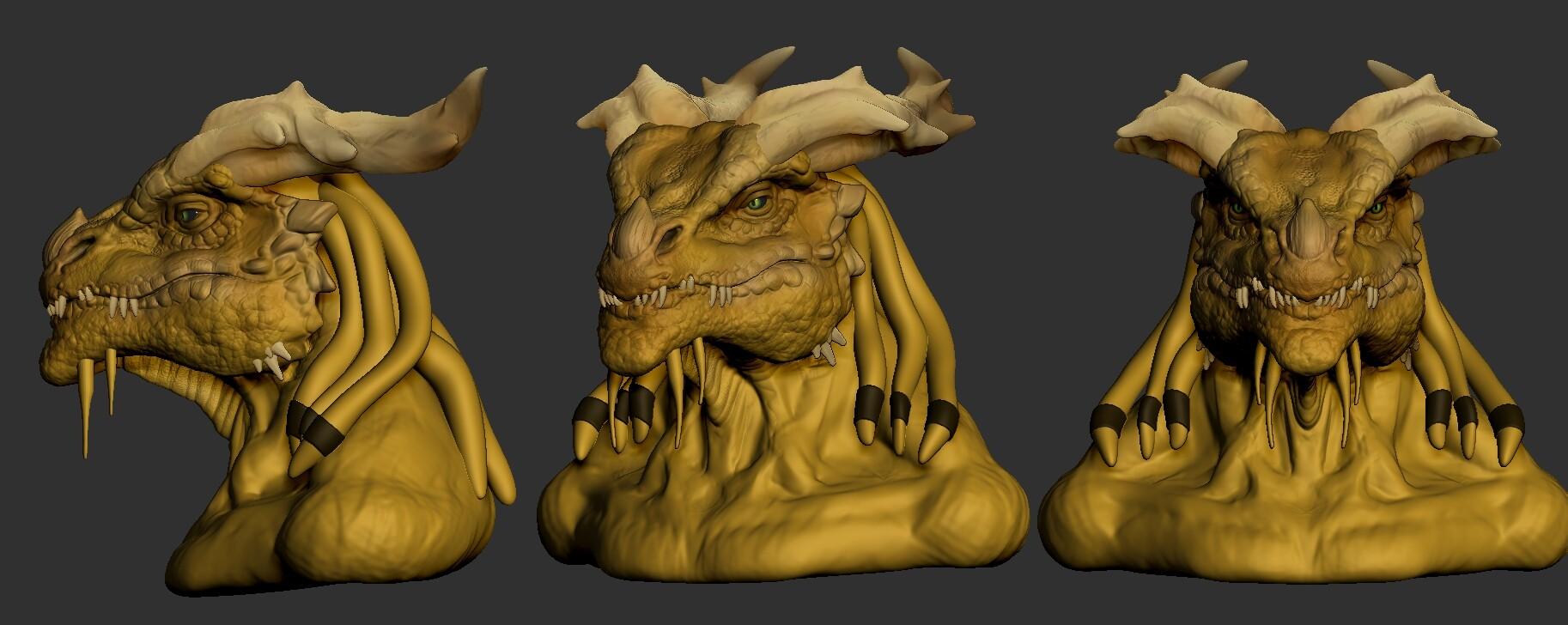 Dragonborn Bust wip1