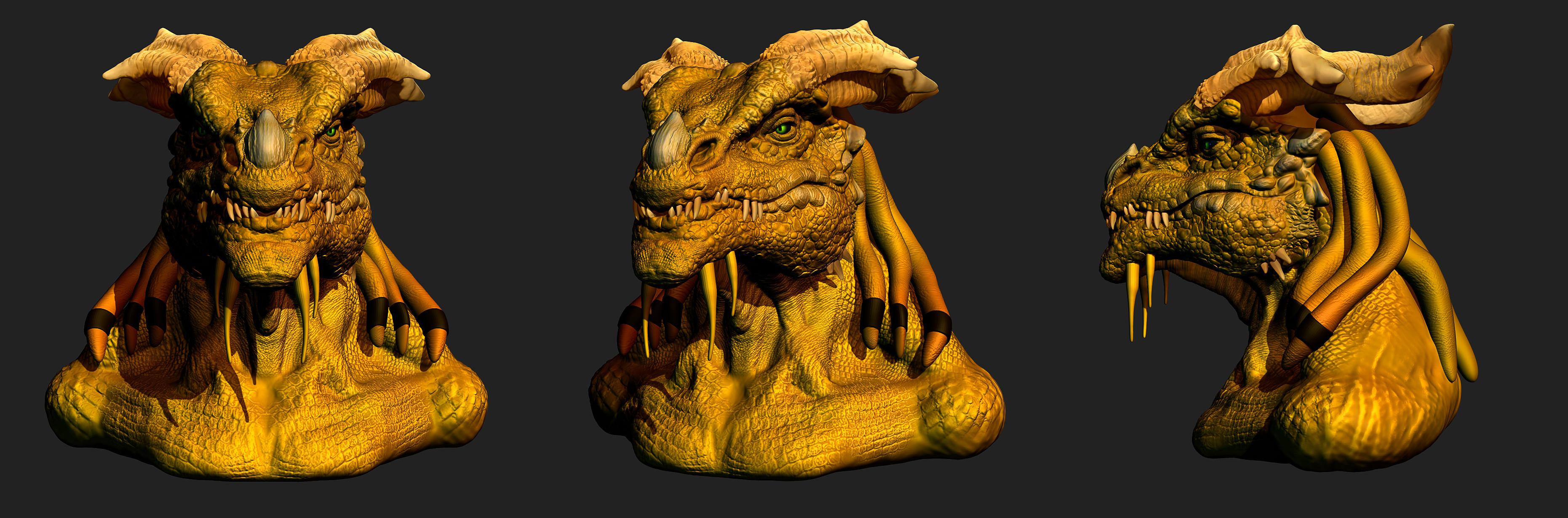 Dragonborn Bust wip2