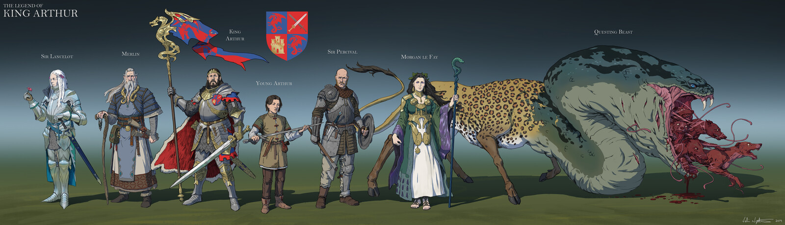 """The Legend of King Arthur"" - character designs"