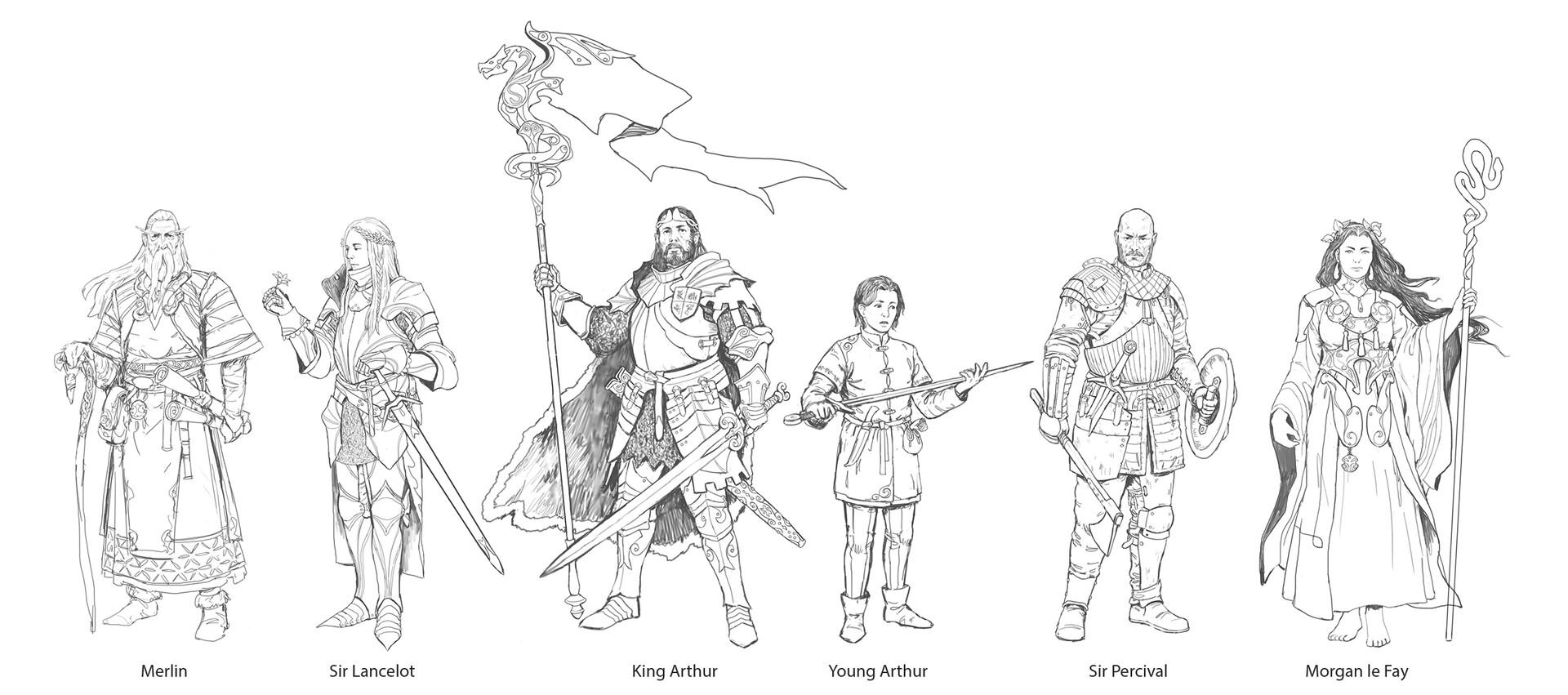 Veli nystrom artstation king arthur characters lines1