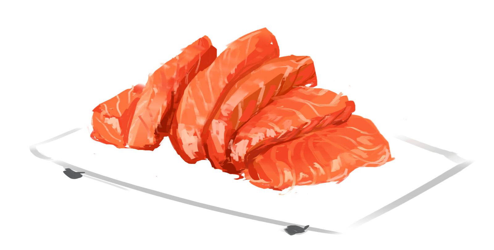 Poorly Cut Salmon Sashimi
