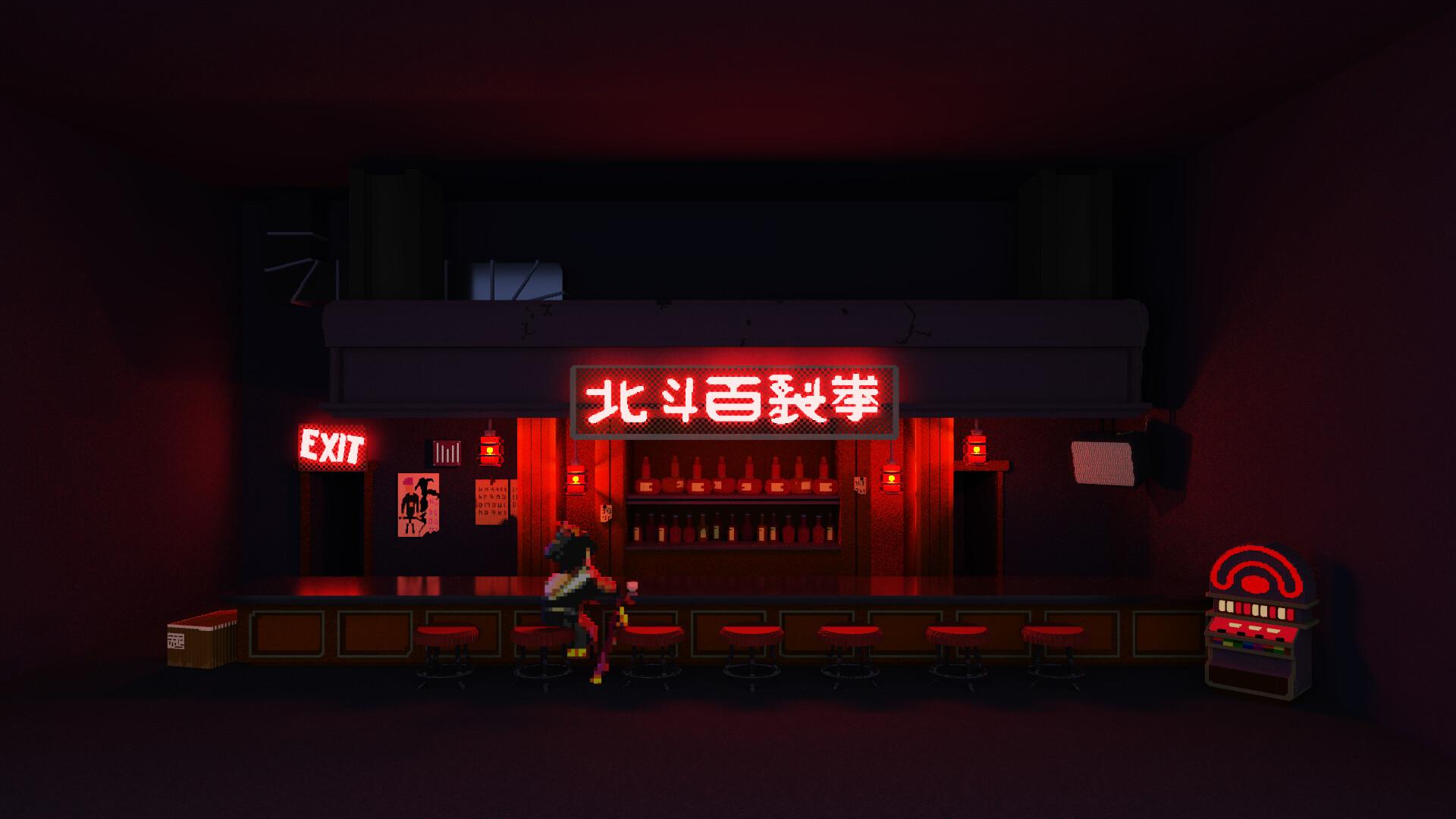 Artstation Katana Zero Bar After Hours Samuel He