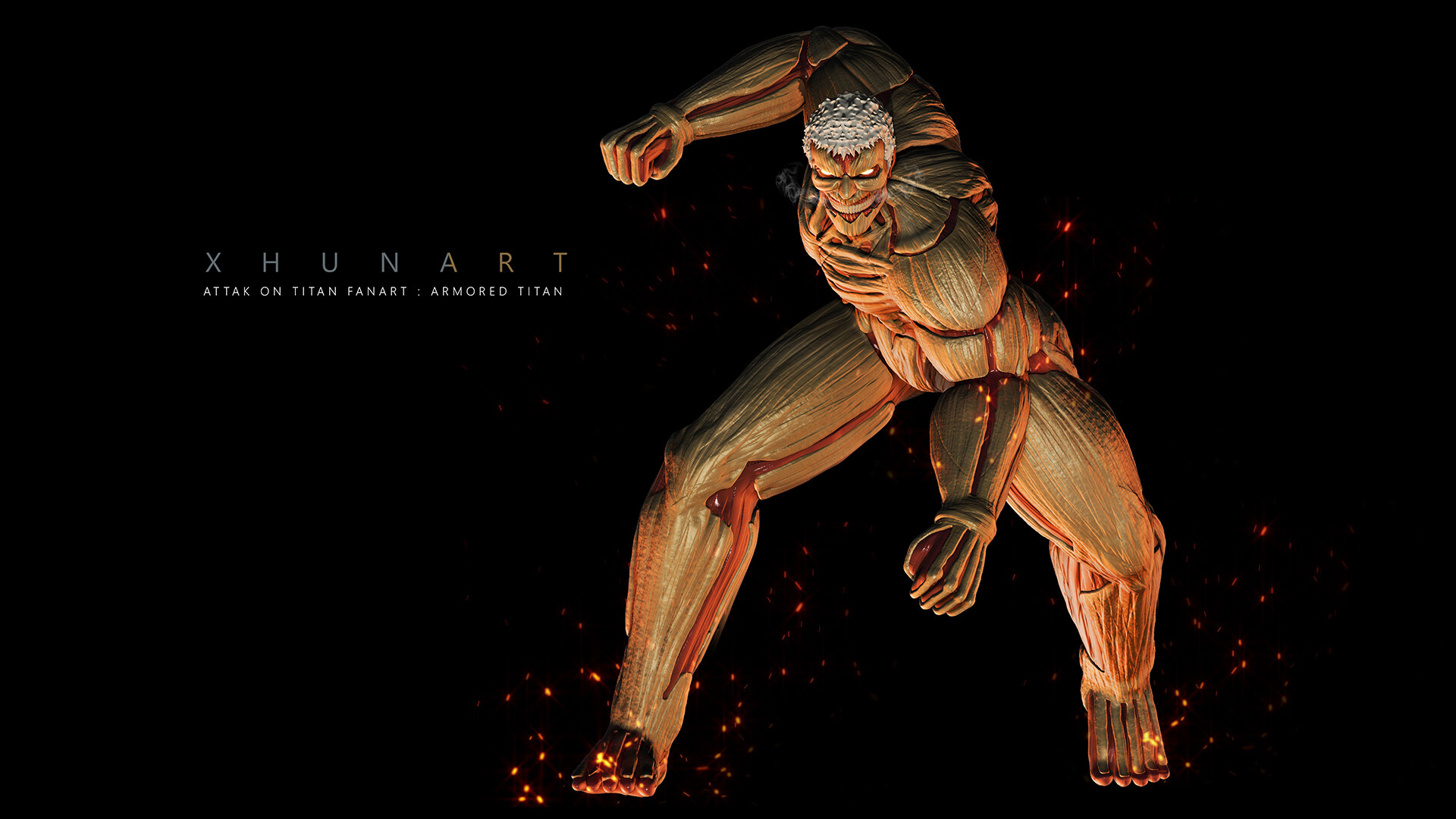 Xhuna Art Attack On Titan Fanart Armored Titan