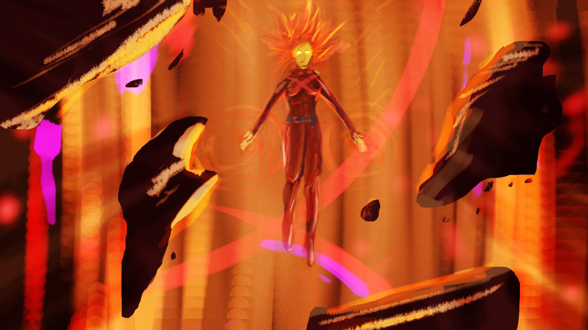 ArtStation , Dark Phoenix FanArt, Le Lama Jaune