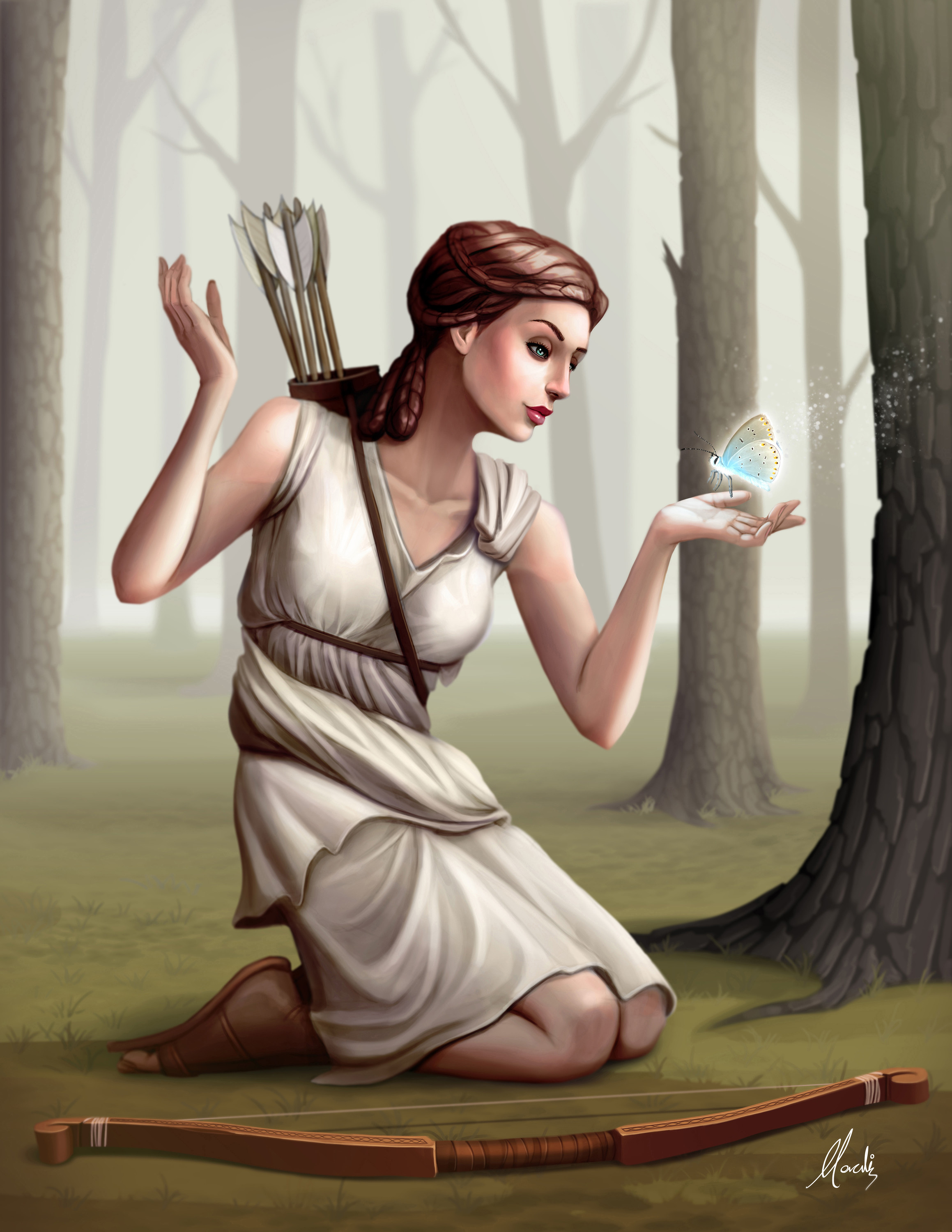This is the final illustration of Artemis