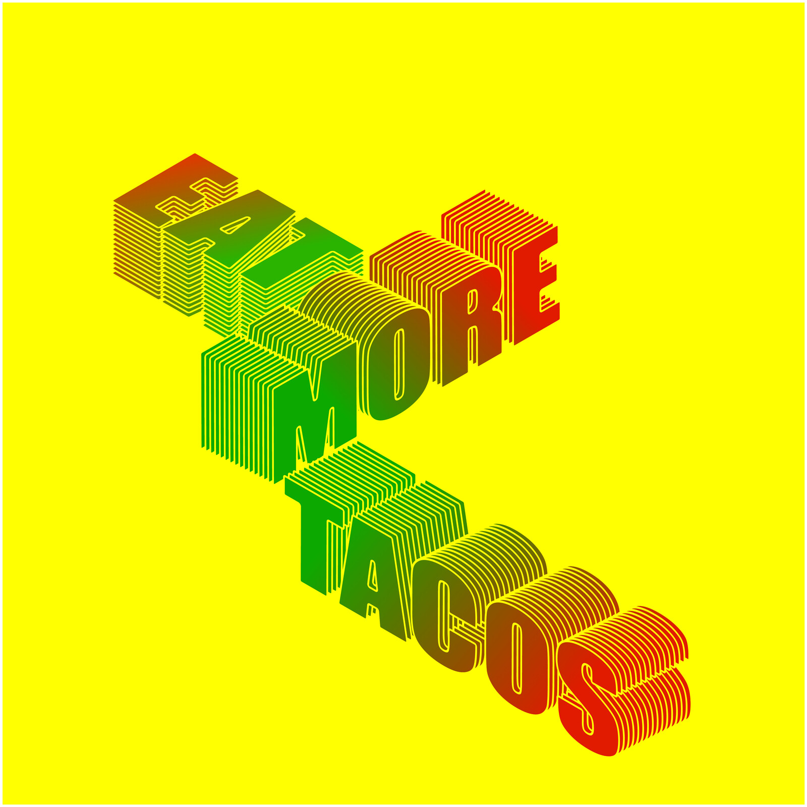 Eat More Tacos logo and shirt design idea