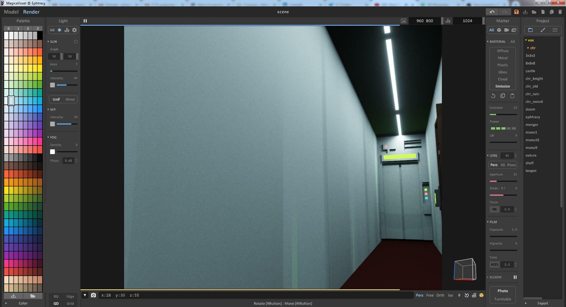 Building Corridor Interior