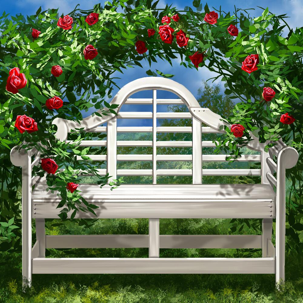 Di studios garden bench