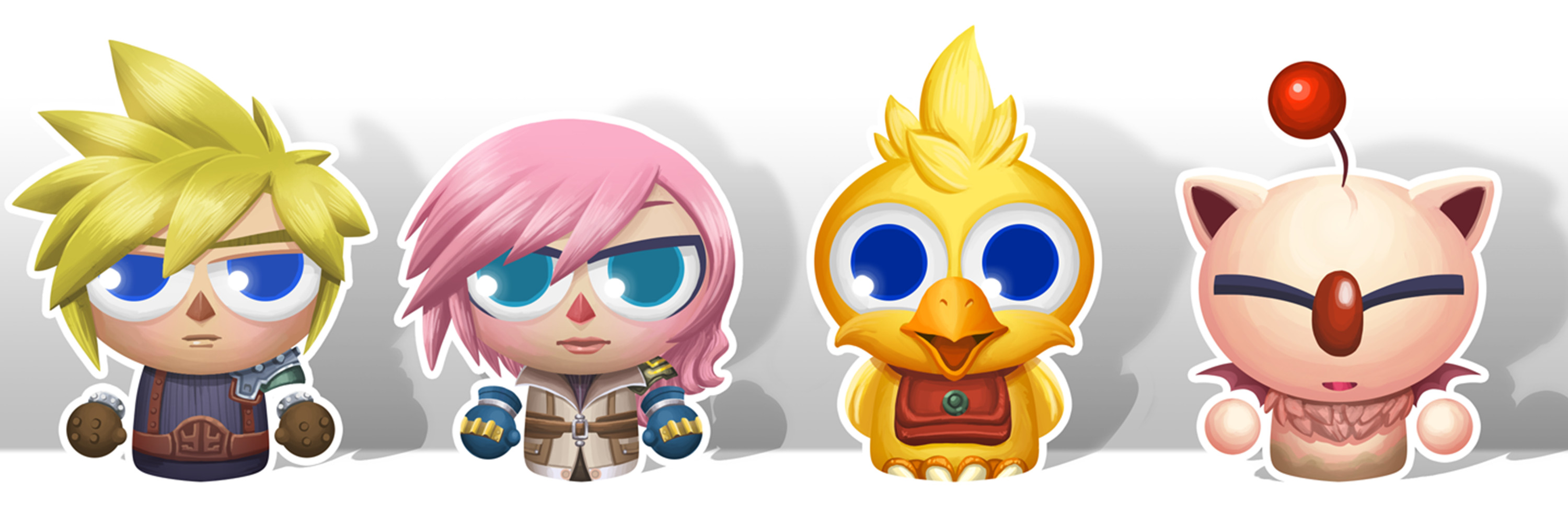 Final Fantasy skin character roll: Cloud, Lightning, Chocobo and a Moogle