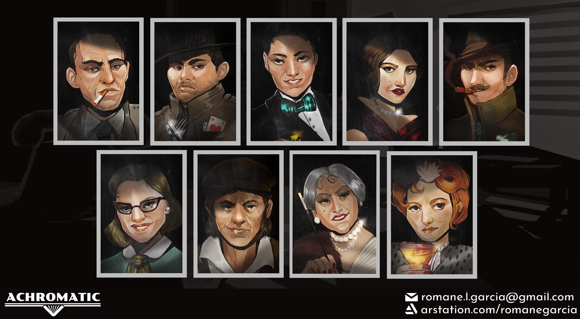 Suspects portraits