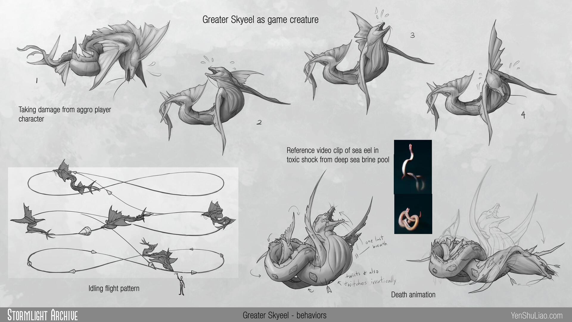 Yen shu liao stormlightarchive skyeel creature concept behavior 01 yen shu liao