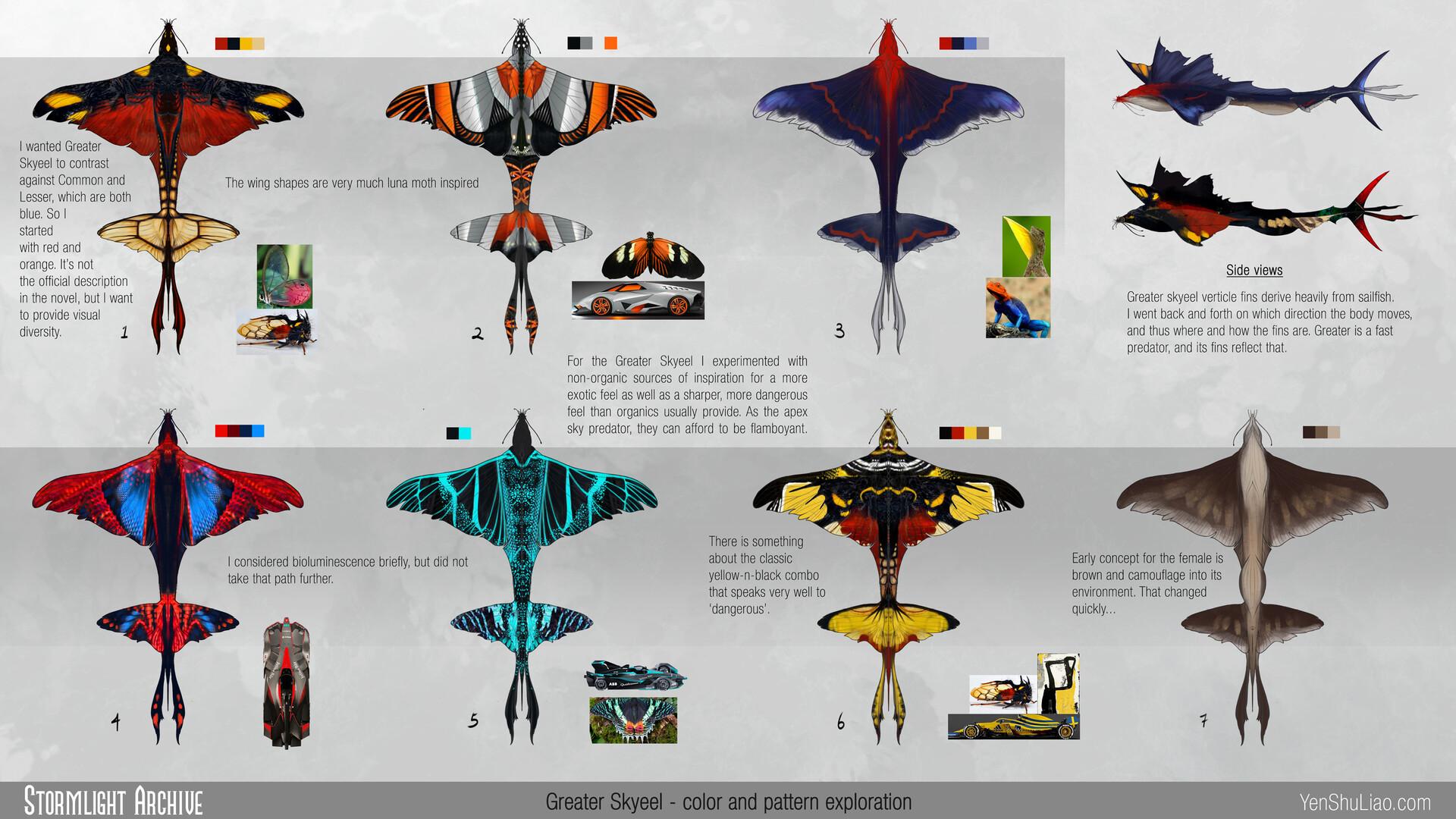 Yen shu liao stormlightarchive skyeel greater creature concept colors yen shu liao