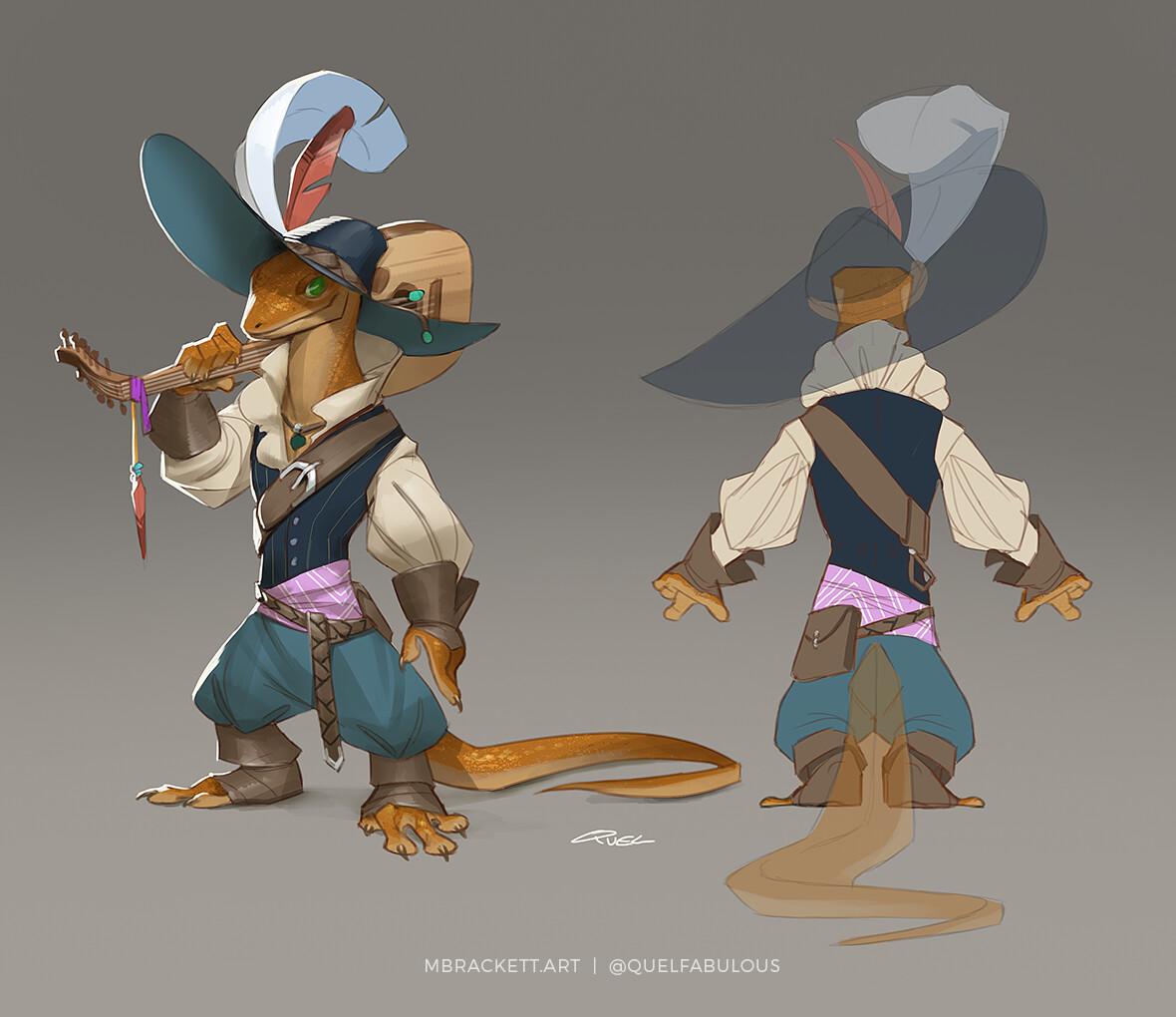 Freyr, Bard Adventurer Outfit Design