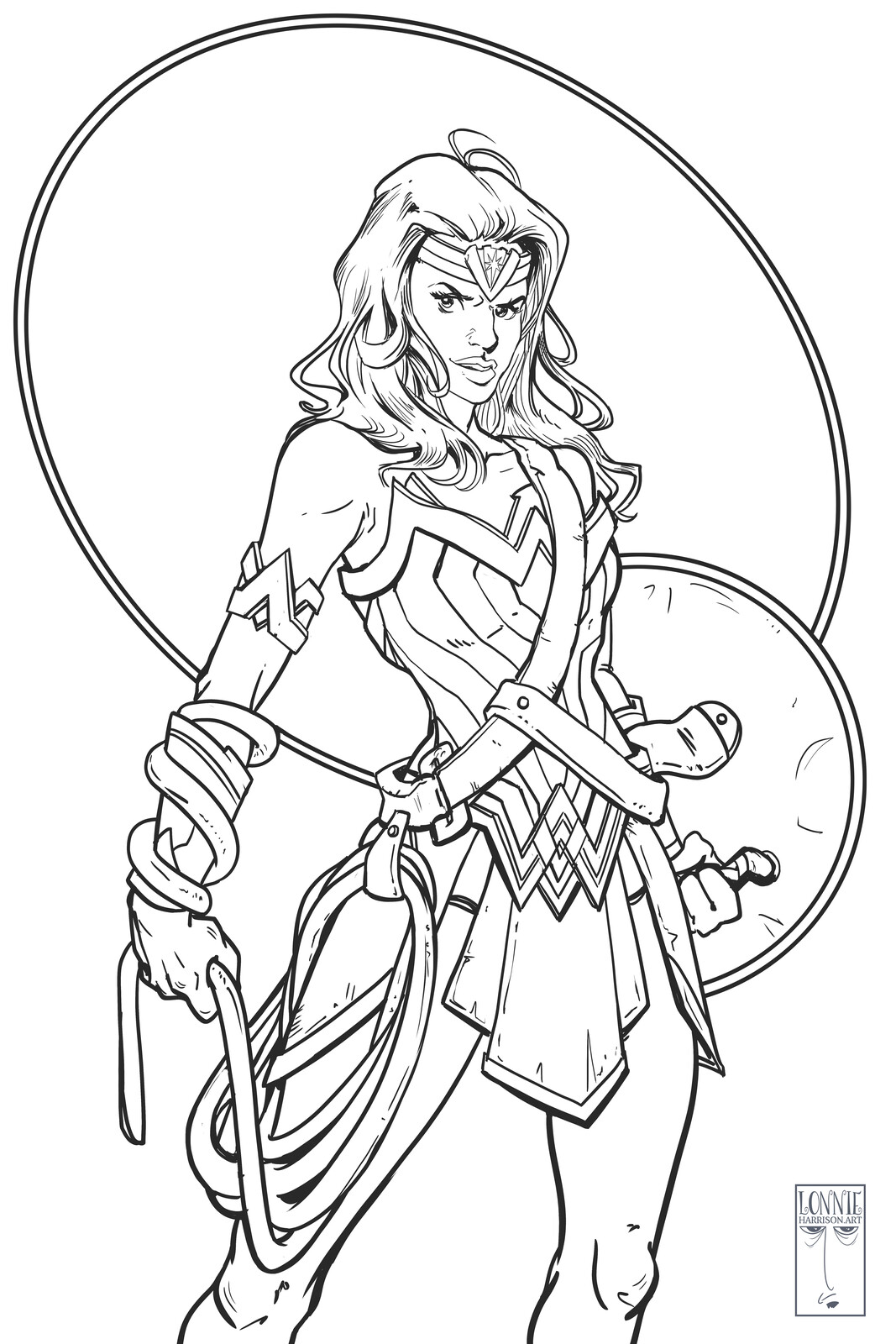 wonder woman line work