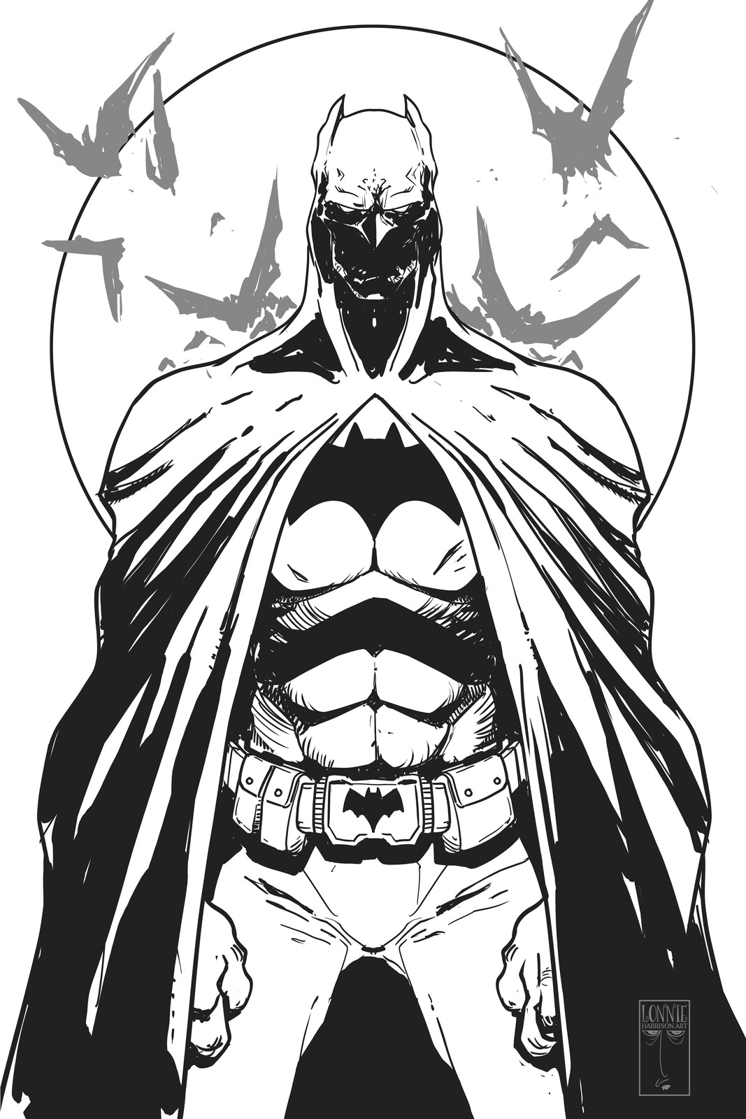 batman line work