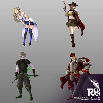 Redrain game studio character sheet
