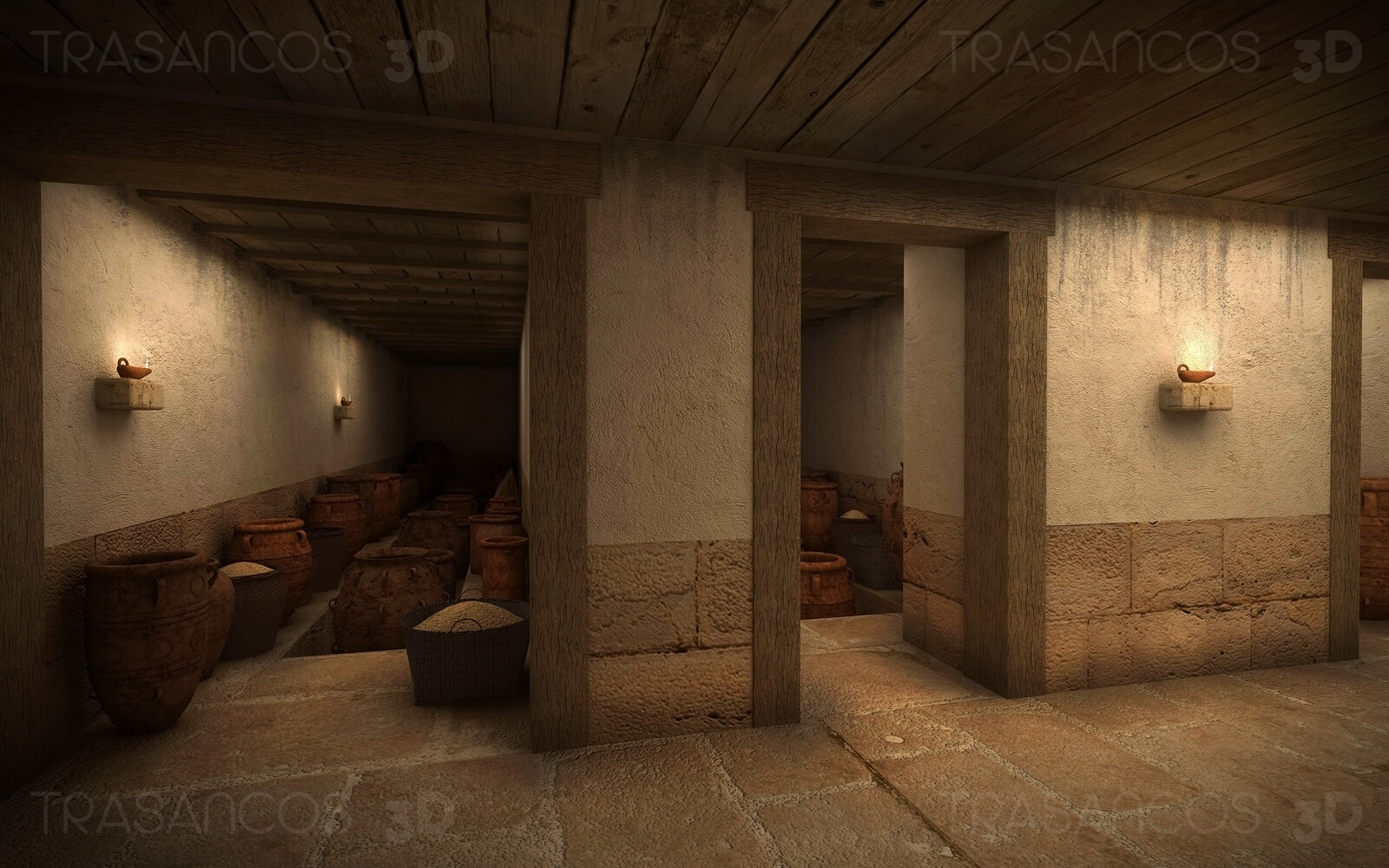 Interior of the storage rooms in the Palace of Cnossos. Modeled in collaboration with: - Diego Blanco