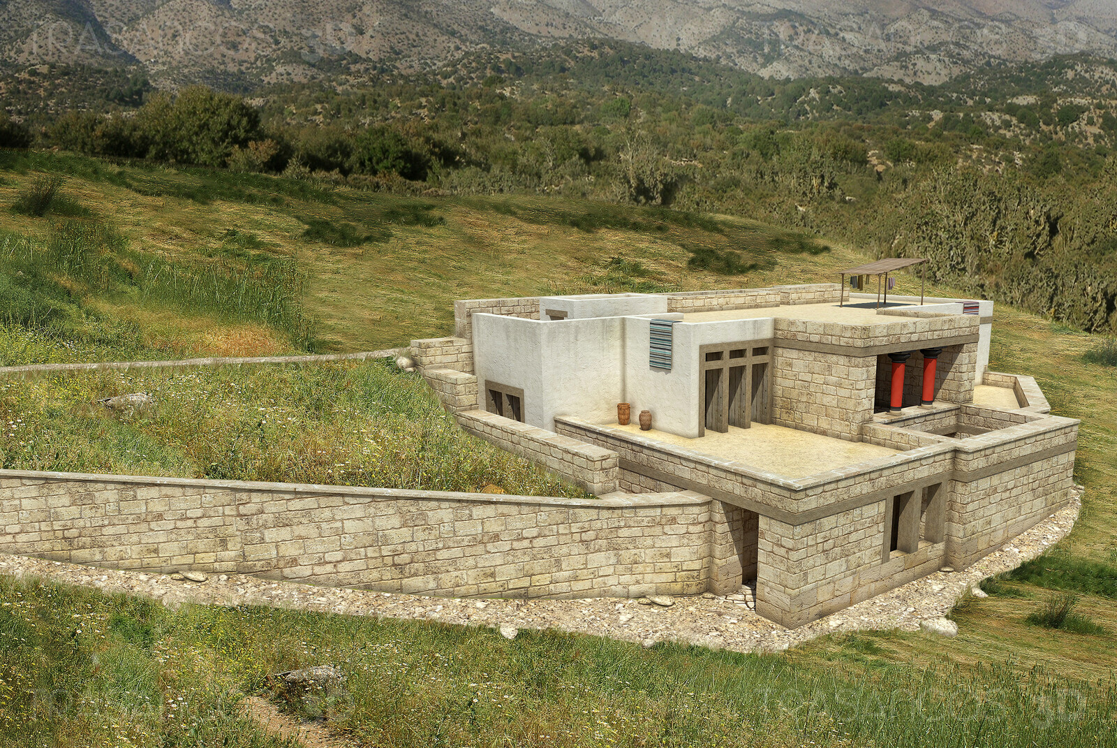 View of the Royal Villa in Cnossos. Modeled in collaboration with: - Andrés Armesto