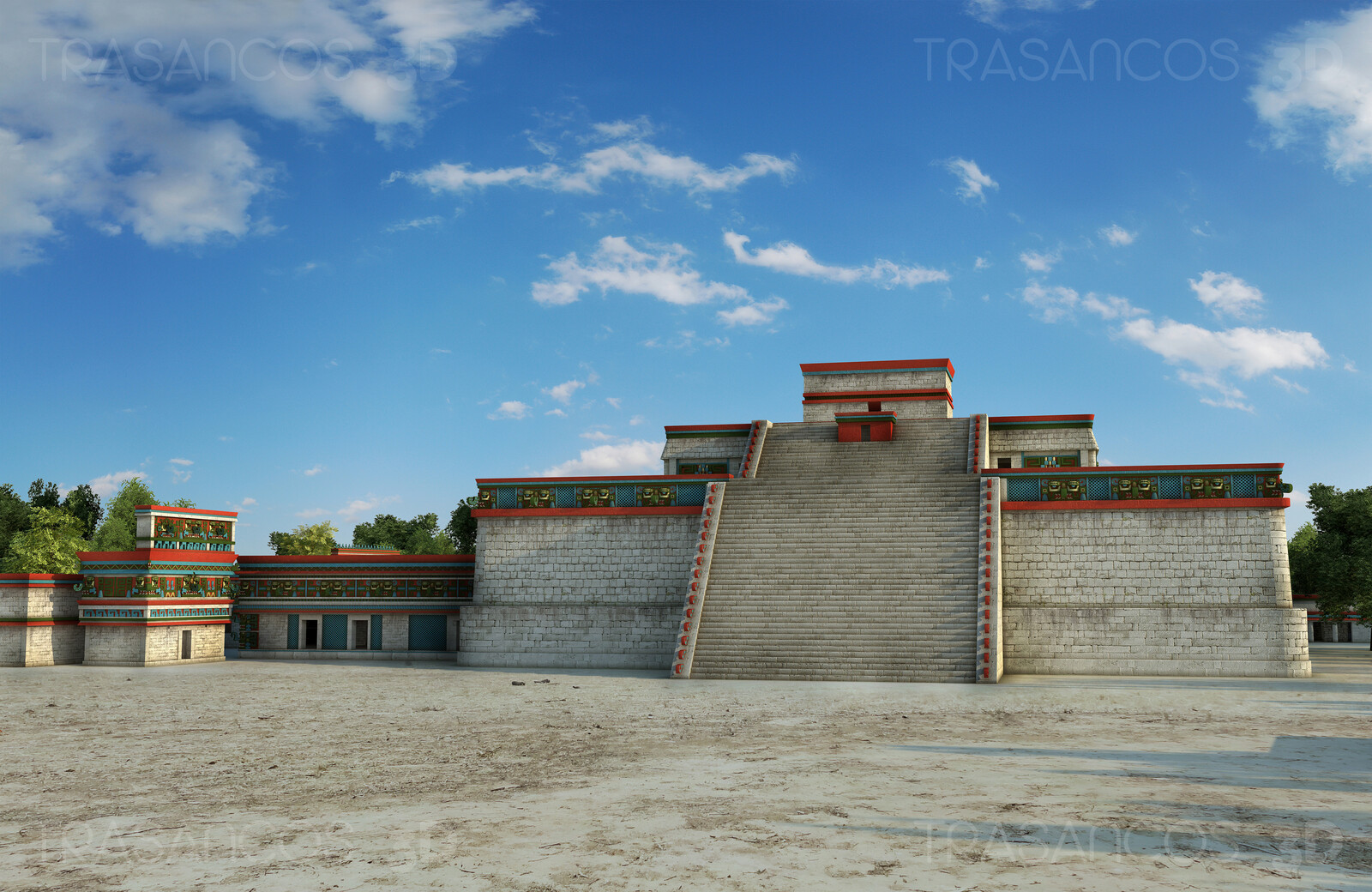 The 'Monjas' (Nuns) and 'Iglesia' (Church) complex in Chichen Itza. Modeled in collaboration with: - Diego Blanco