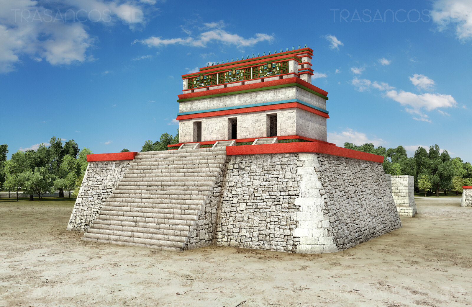 Reconstruction os 'Casa Colorada' in Chichen Itza. Modeled in collaboration with: - Carlos Paz
